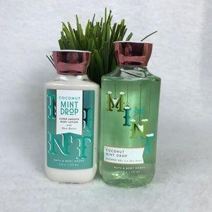 Other - Coconut Mint Drop Bath & Body Set